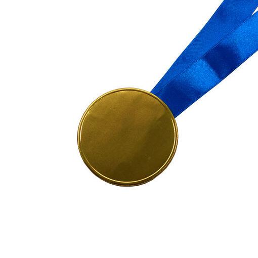 Шоколадные медали на ленте ( без изображения, лента синяя )