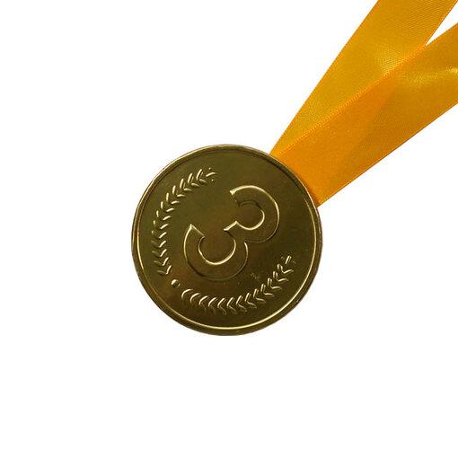 Шоколадная медаль на ленте третье место ( лента желтая )